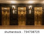 Golden Elevators With Relief...
