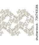 vector border ornament with... | Shutterstock .eps vector #734743186