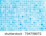 blue ceramic tile wall texture  ... | Shutterstock . vector #734758072