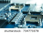 semiconductor component... | Shutterstock . vector #734773378