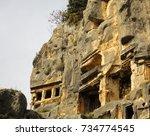 ancient city of myra near demre.... | Shutterstock . vector #734774545