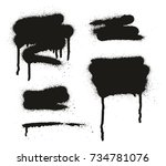 spray paint abstract vector... | Shutterstock .eps vector #734781076
