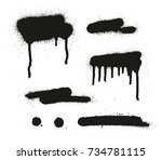 spray paint abstract vector... | Shutterstock .eps vector #734781115