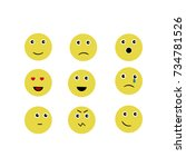 a set of attractive smileys... | Shutterstock .eps vector #734781526