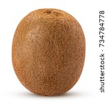 Whole Kiwi Fruit Isolated On...