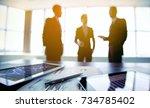 boards of directors are meeting ... | Shutterstock . vector #734785402