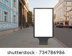 blank street billboard poster... | Shutterstock . vector #734786986