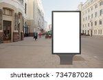 blank street billboard poster... | Shutterstock . vector #734787028