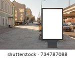 blank street billboard poster... | Shutterstock . vector #734787088