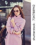 young stylish beautiful woman... | Shutterstock . vector #734788942