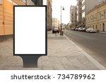 blank street billboard poster... | Shutterstock . vector #734789962