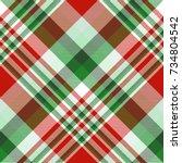 seamless tartan plaid pattern... | Shutterstock .eps vector #734804542