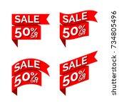 sales banner template  vector... | Shutterstock .eps vector #734805496