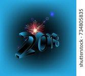 2018 new year | Shutterstock .eps vector #734805835