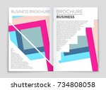 abstract vector layout...   Shutterstock .eps vector #734808058