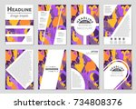 abstract vector layout... | Shutterstock .eps vector #734808376