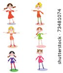 active girls | Shutterstock .eps vector #73481074
