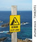 Beware Of Cliff Edge Sign At...