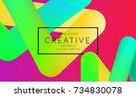 abstract 3d liquid fluid color... | Shutterstock .eps vector #734830078