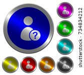 unknown user icons on round...   Shutterstock .eps vector #734834212