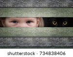 The Eyes Of A Child And Cat...