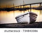 dinghy san diego  ca bay | Shutterstock . vector #734843386