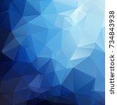 blue polygonal mosaic... | Shutterstock .eps vector #734843938