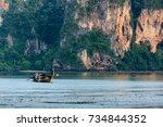 krabi thailand   27 april 2017  ...   Shutterstock . vector #734844352