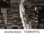 new york city fifth avenue... | Shutterstock . vector #734844976