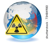 earth globe with radiation... | Shutterstock .eps vector #73484980