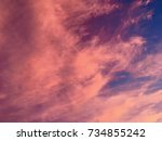 colors of the sky at sunset | Shutterstock . vector #734855242
