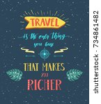 travel. vector hand drawn... | Shutterstock .eps vector #734861482