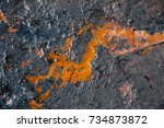 texture of crude oil spill on...