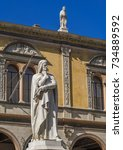 Small photo of Statue of Dante Alighieri at Piazza dei Signori, Verona, Veneto, Veneto, Italy, Europe