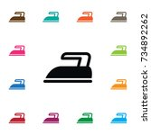 isolated press icon. iron... | Shutterstock .eps vector #734892262