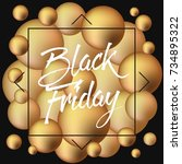 abstract vector black friday... | Shutterstock .eps vector #734895322