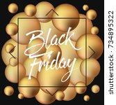abstract vector black friday... | Shutterstock .eps vector #734895322