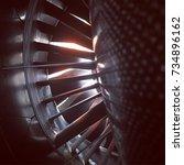 looking inside the new leap jet ... | Shutterstock . vector #734896162