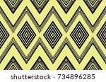 geometric ethnic pattern design ... | Shutterstock .eps vector #734896285