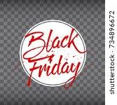 abstract vector black friday... | Shutterstock .eps vector #734896672