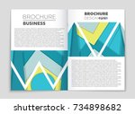 abstract vector layout... | Shutterstock .eps vector #734898682