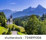 pilgrimage church maria gern ...   Shutterstock . vector #734899306