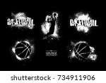 basketball. abstract ball ... | Shutterstock .eps vector #734911906
