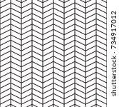 linear herringbone  chevron... | Shutterstock .eps vector #734917012
