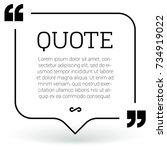 trendy block quote modern... | Shutterstock .eps vector #734919022