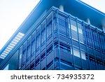 blue building facade | Shutterstock . vector #734935372