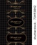 vector set of ancient elegant... | Shutterstock .eps vector #73493842