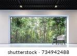 modern black and white living... | Shutterstock . vector #734942488