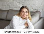 aging gracefully. indoor... | Shutterstock . vector #734943832