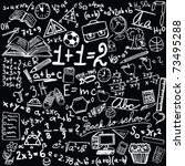 blackboard with school symbols  ... | Shutterstock .eps vector #73495288